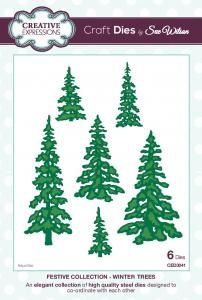 Festive Collection, Winter Trees, Cards by America, Festive Collection, 2015, Christmas, Holidays, Dies, www.cardsbyamerica.blogspot.com/, Sue Wilson, Creative Expressions