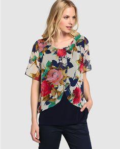 Blusa de mujer Tresor con estampado de flores