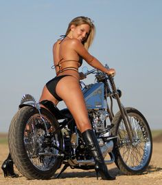 Very Hot Biker Babe