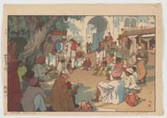 Snake Charmers, from the series India and Southeast Asia. Yoshida Hiroshi, 1931. Credit: Freer Gallery of Art and Arthur M Sackler Gallery