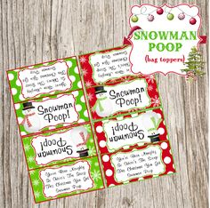 Free Christmas Snowman Poop bag toppers!