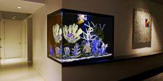 Love the idea of a soft glowing aquarium in a Retreat room!