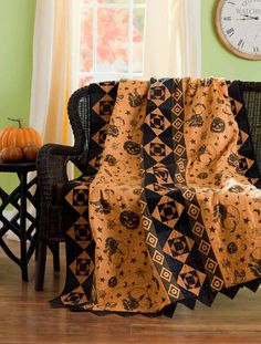 """Quilt made with """"Spellbound"""" fabric by Renee Nanneman.  2010 collection at Andover Fabrics."""