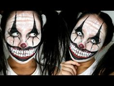 Killer Clown Makeup Tutorial | Easy Scary Clown | 31 Days of Halloween - YouTube