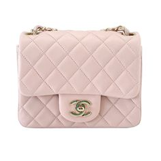 CHANEL bag whisper pink mini lambskin soft gold hardware NWT / box | From a collection of rare vintage handbags and purses at http://www.1stdibs.com/fashion/accessories/handbags-purses/