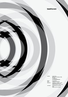 minimalistic poster design in black and white | typography / graphic design: Josef Mueller-Brockmann @ monoscope |