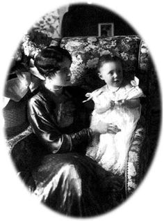 Princess Irina (Wife of Prince Felix Yussuppov and niece of the Tsar) with her only daughter, Irina.