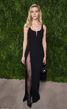 Gorgeous: Nicola Peltz kept her look elegant and simple when she attended the CFDA/Vogue Fashion Fund Awards in New York City on Monday night