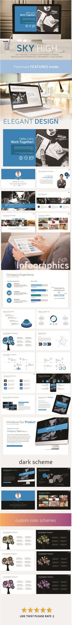 Sky High PowerPoint Template #powerpoint #powerpointtemplate #presentation Download: http://graphicriver.net/item/sky-high-powerpoint-template/11944749?ref=ksioks