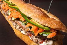 Pork and Pâté Vietnamese Sandwich (Banh Mi)