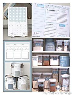 Help With Getting Organized in 2014 with Free Printables from The Creativity Exchange.
