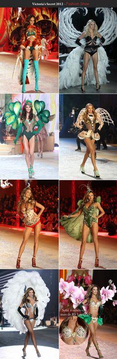 É um arraso o show da Victoria's Secret, não acham? Não sei escolher qual foi o melhor até hoje. Todos são um deslumbre! Angels perfeitas, pele, cabelo, maquiagem, tudo impecável! Ontem não poderia ser diferente, aconteceu o Fashion Show 2012 com a presença da cantora Rihanna e os cantores Justin Bi