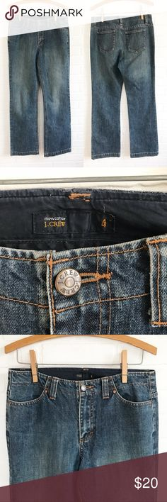 "J. CREW | Classic Straight Leg Medium Wash Size 4 These jeans are perfect for casual Friday at the office paired with mules and a blazer or rolled at the ankle and worn with Sandler's and a swingy tee to grab brunch.   ▪️Excellent pre-owned condition. Flawless!  ▪️MEASUREMENTS (all taken flat)...      Waist: 15""      Rise: 9""      Inseam: 31""      Ankle: 8.5""  ▫️H105 J. Crew Jeans Straight Leg"