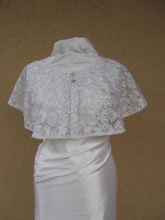 White Wedding Cape Bridal Cape Lace Wedding Wrap Bridal | Etsy