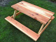 DIY Child's Picnic Table