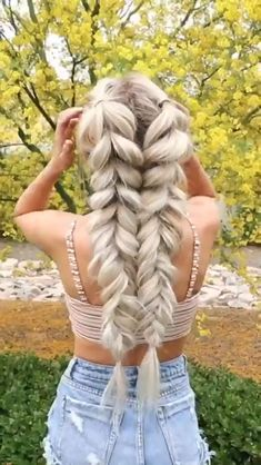 super quick and easy hairstyles for 2019 30 - Frisuren für Frauen - Braided Hairstyles Box Braids Hairstyles, Pretty Hairstyles, Girl Hairstyles, Hairstyle Ideas, Winter Hairstyles, Wedding Hairstyles, Braided Hairstyles For Long Hair, Braided Hairstyles Tutorials, Unique Hairstyles