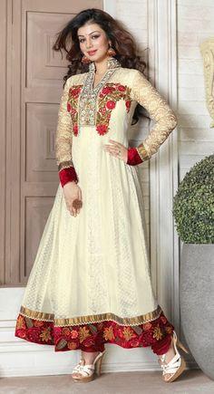 Luscious Off White Salwar Kameez