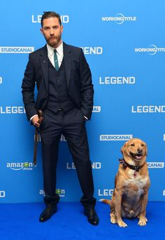 Tom Hardy Brought His Dog To His Film Premiere And You Are So Welcome For The Photos....He's soooo hot omg.
