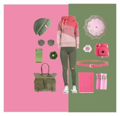 """""""Navy Green vs Pink!"""" by vintagetandem on Polyvore featuring Will Leather Goods, Laundromat, Ray-Ban, Cultural Intrigue, Accessorize, Marc by Marc Jacobs and Kate Spade"""
