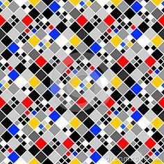 Patroon van het ontwerp het naadloze kleurrijke mozaïek