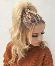 Coiffure tresse pour cheveux longs - hair styles for short hair - Hair Styles Natural Hair Styles, Short Hair Styles, Ideas For Hair Styles, Girls Long Hair Styles, Hair Styles Teens, Hair Styles Summer, Hip Hop Hair Styles, Long Hair Girls, Women Hair Styles