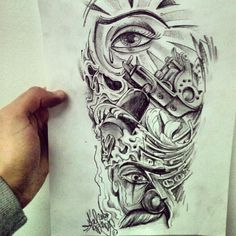 MIKERU TATTOO STUDIO: Chicano style.. curro para Luismi