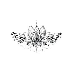 Lotus with Glamour tattoo design - Momentary Ink