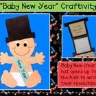 Ring in the new year with this adorable, interactive craftivity.  Baby New Year's hat opens up to allow your students to write about a goal for the...
