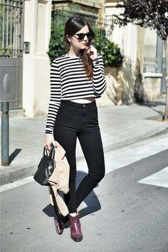 High waist black jeans.