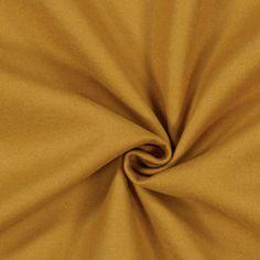 Frakkestof okker - Polyester - Polyacryl - okkergul