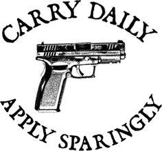 CARRY DAILY PRO GUN PISTOL 2ND AMENDMENT T-SHIRT