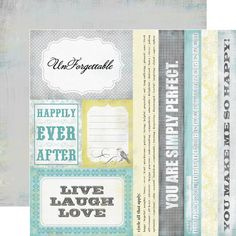 """Echo Park PHOTO FREEDOM """"HAPPY LITTLE MOMENTS"""" 12x12 Double-Sided Cardstock Sheet - Happily Ever After"""