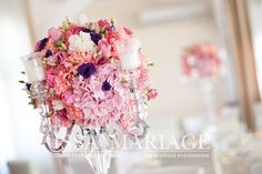 Christening, Floral Wreath, Restaurant, Wreaths, Table Decorations, Home Decor, Crystal, Floral Crown, Decoration Home