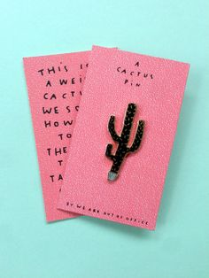 Cactus pin by weareoutofoffice on Etsy