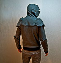 The first ten handcrafted Suit of Armor Hoodies have SOLD OUT! UPDATE: The Armor Boss and his wildly popular suit of armor hoodie is back and better than ever Knight Armor Hoodie, Grey Knights, Armadura Medieval, Medieval Armor, Medieval Party, Suit Of Armor, My Princess, My Guy, Hoodie