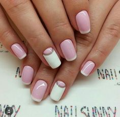 White Pale Pink Nails