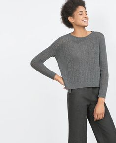 Image 2 of OPEN WORK SWEATER from Zara