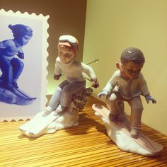Skiing children from Lladro  Handmade Spanish Porcelain Available at Little Europe Jewellers  Email lej@littleeurope.com