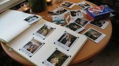 Polaroid photobooth guest book - I like the idea Wedding Guest List, Wedding Dj, Wedding Book, Wedding Stuff, Polaroid Wedding Guest Book, Lilac Wedding, Whimsical Wedding, Wedding Album, Fall Wedding