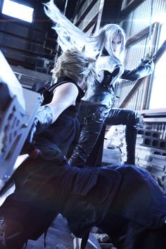Final Fantasy Wallpaper_Sephiroth and Cloud Final Fantasy Collection, Final Fantasy Artwork, Fantasy Art Men, Final Fantasy Vii Remake, Fantasy Series, Bad Boy Style, Anime People, Cloud Strife, Best Cosplay