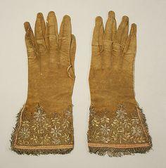 Gloves, 17th century, British.