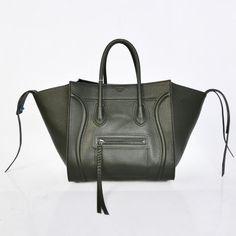Celine Dark Gray Boston Cowhide Bags