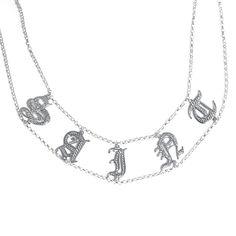 Personalized Name Necklace - Kim Kardashian Saint Choker – Be Monogrammed