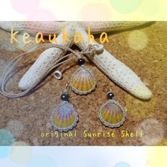 Sunrise shell earrings n necklace
