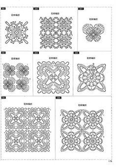 It's simple, free and blazing fast! Crochet Motif Patterns, Crochet Blocks, Crochet Squares, Crochet Chart, Crochet Granny, Crochet Doilies, Crochet Flowers, Crochet Lace, Knitting Patterns