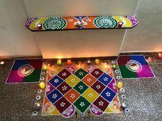 Diwali Special Rangoli Design, Free Hand Rangoli Design, Rangoli Designs Diwali, Diwali Rangoli, Simple Rangoli Designs Images, Beautiful Rangoli Designs, Kolam Designs, Small Rangoli, Flower Rangoli