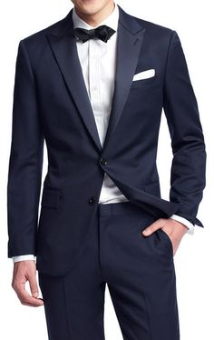 J. Crew Navy Blue Ludlow Tuxedo (Jacket, Pants) Classy.