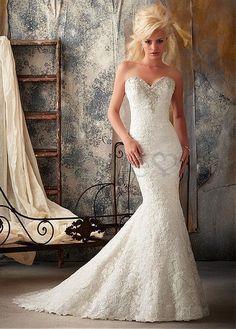 Meerjungfrau gekappte Ärmel Herz-Ausschnitt Spitze elegantes & luxuriöses bodenlanges Brautkleider