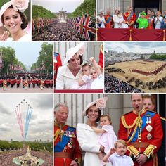 What a fabulous day!  Trooping the Colour was spectacular, Kate looked absolutely stunning and I'm so glad we got to see the gorgeous Prince George and Princess Charlotte on the balcony today.