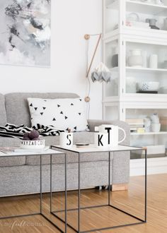 scandinavian livingroom, design letters porcelain and by lassen twin tables